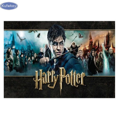 Diy Diamant Schilderen, filmster poster Harry Potter Diamant Kruissteek Onvoltooide Decoratieve Vierkante Diamant Borduurwerk geschenken